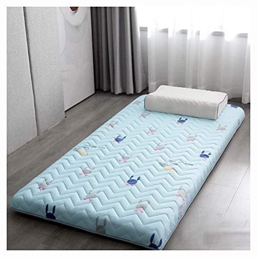 VIIPOOMaterassino Tatami Tradizionale Giapponese Futon Materasso Letto Dormitorio Studente Spessore Materassino Lavabile Pieghevole Materassino Pieghevole Morbido,F-90 * 200cm