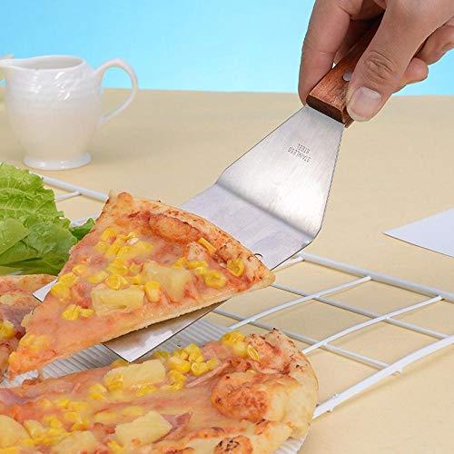 Pala plana gruesa Pala para Pala para bistec Pala para pizza Placa de hierro de acero Pala Pala para agarrar a mano Pala para cocinar Pala para-Conjunto de dos piezas [plano 1 fuga 1]