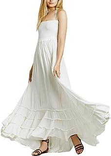 28e77c1d1 Amazon.es: hippie chic - Blanco / Vestidos / Mujer: Ropa