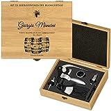 MURRANO Set Cavatappi da Vino Deluxe - Kit da Sommelier Personalizzato - Scatola in legno ...