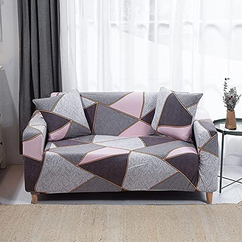 WXQY Funda de sofá elástica para Sala de Estar Funda de sofá Antideslizante Todo Incluido Funda de Toalla de sofá de Esquina en Forma de L elástica A9 2 plazas