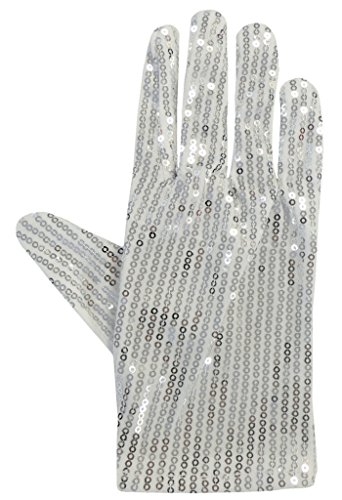 Un guante de lentejuelas en el estilo de Michael Jackson (White Sequin Gloves)