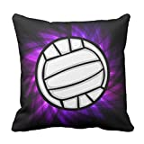 Violett Volleyball Überwurf Kissen, 45x 45cm Sofa Decor Kissen.
