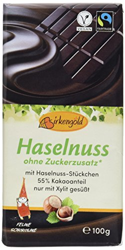 Birkengold Zartbitter Schokolade mit Nüssen (1 x 100 g)
