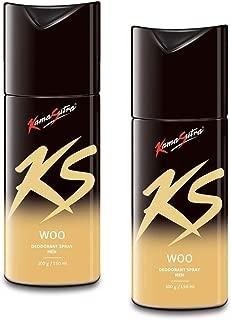 Kama Sutra Deodorant Body Spray for Men, 150 ml (Woo) - Pack of 2