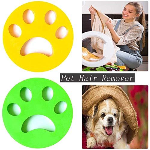 NIWWIN 2 Paquetes de removedor de Pelo para Mascotas para lavandería, Lavadora, recogedor de Piel para Mascotas, Lavadora de Limpieza Reutilizable, Bola Flotante