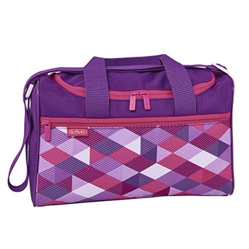 herlitz 50021888 Sporttasche Pink Cubes, 1 Stück