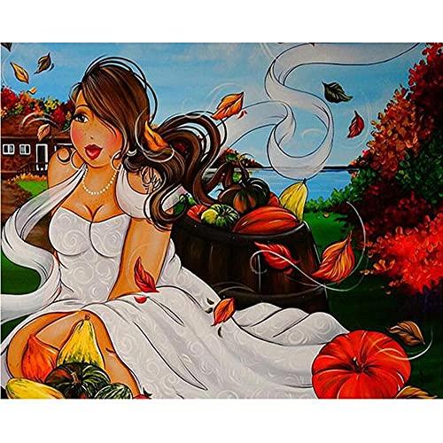 Diamond Painting Señora Gorda Sexy Diy 5D Kit Completo Arte Artesanía Punto De Cruz Completo Diamante Bordado De Diamantes De Imitación De Gran Tamaño Decoración De Mosaico,Taladro Cuadrado,80x100cm