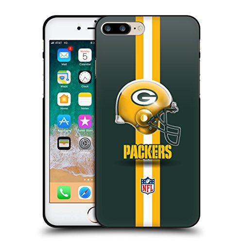 Head Case Designs Licenciado Oficialmente NFL Casco Logo de Green Bay Packers Funda de Gel Negro Compatible con Apple iPhone 7 Plus/iPhone 8 Plus