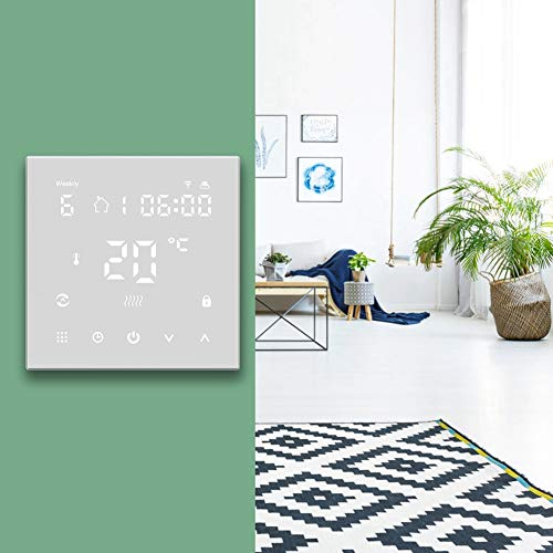 Juicemoo Termostato Digital, Controlador de Temperatura Resistente al Desgaste de Rendimiento Estable, para calefacción de Suelo, fontanería, Sistemas de calefacción eléctrica,(Ordinary Paragraph)