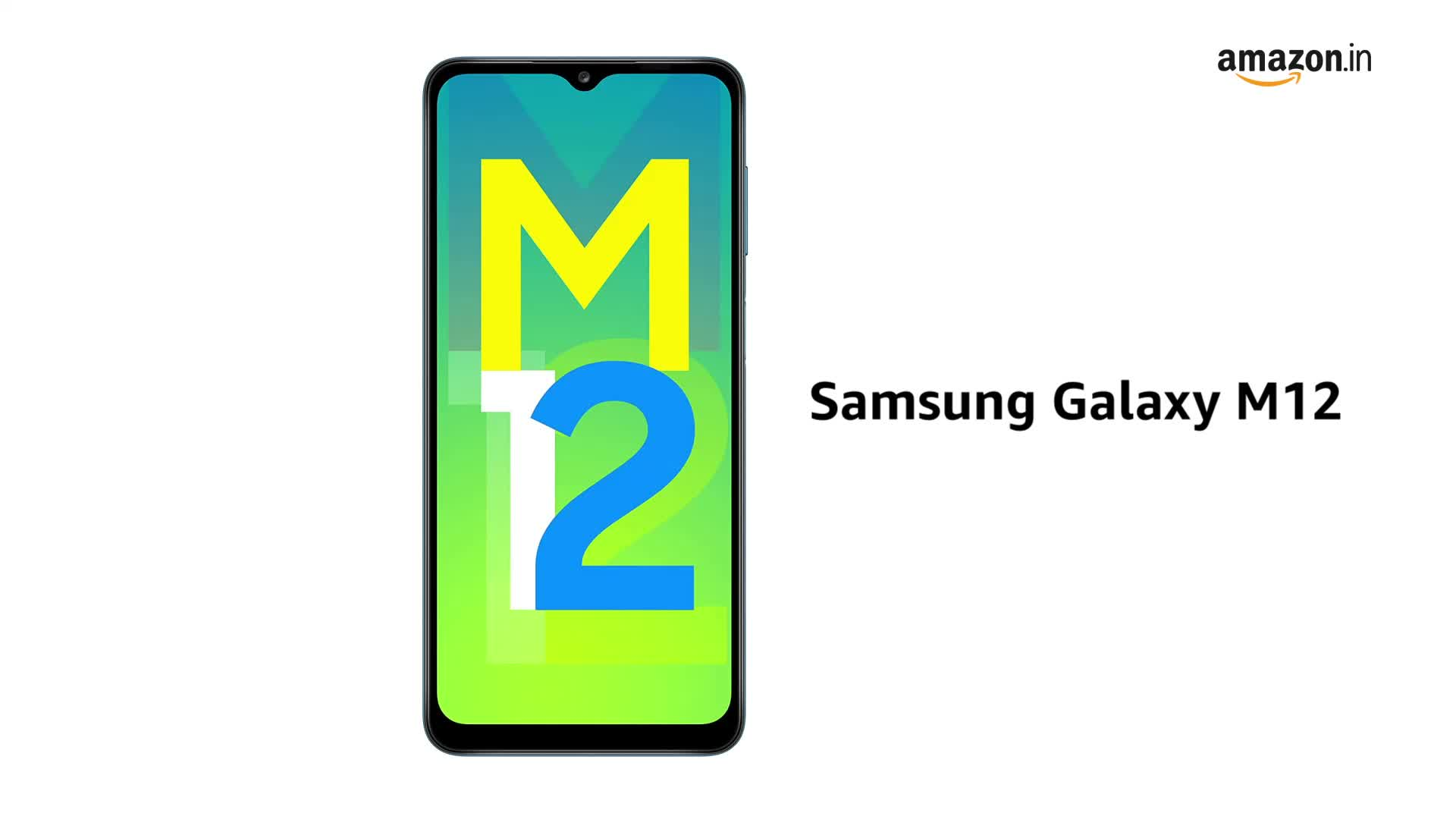 Samsung Galaxy M12 (Blue,6GB RAM, 128GB Storage) 6 Months Free Screen Replacement for Prime - GoMobiSale