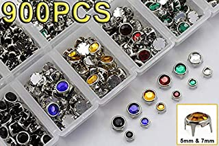 Bedazzler Supplies Rhinestone Stud Refills - Mixed Sizes and Colors - 900PCS