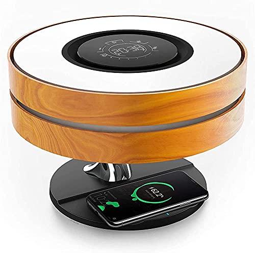 Lámpara De Mesa Led Lámpara De Noche Con Altavoz De Tws Bluetooth Y Cargador Inalámbrico De 10w, Lámpara De Mesa Con Reloj Digital, Lámpara De Escritorio De Atenuación Rápida Y Modo De Suspensión Para