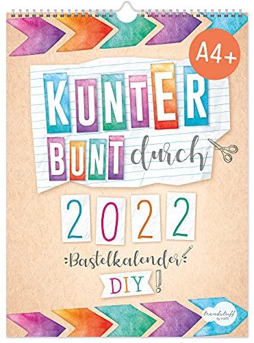 A4+ Bastelkalender 2022 [Kunterbunt] von Trendstuff by Häfft | Fotokalender, DIY-Kalender, Kreativ-Kalender, Geburtstags-Kalender zum Selbstgestalten | nachhaltig & klimaneutral