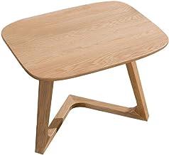 Sofa Side End Table, Pure Solid Wood Coffee Table Sofa Corner Table Nordic White Oak Racks Creative Small Apartment Living...