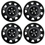 Tuningpros WC3-16-502-B - Pack of 4 Hubcaps - 16-Inches Style Snap-On (Pop-On) Type Matte Black Wheel Covers Hub-caps