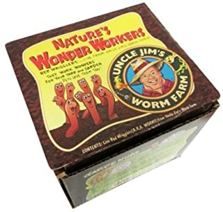 Uncle Jim`s Worm Farm 2000 Count Red Wiggler Worms