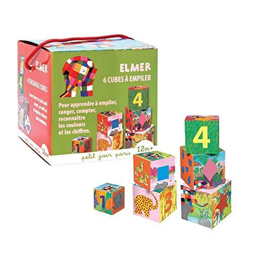 Petit jour paris - Jeu de cubes en carton Elmer