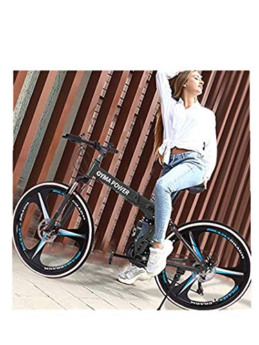 US Fast delivery,Mountain Bicycle,Nivalkid 6 Spoke 21 Speed 26 in Folding Bike Double Disc Brake Suspension Anti-Slip Bike for Men/Women/Seniors/Youth