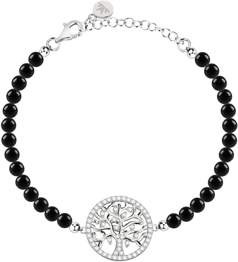 Morellato, bracciale da donna, collezione albero della vita, in argento 925,e cristalli E PIETRE 8033288901556