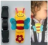 Escape Me Not Autositz Anti-Flucht Geschirr Brustclip kein Einfädeln erforderlich, hilft zu verhindern, dass Kinder ihre Arme aus den Gurten nehmen – Bienen-Design