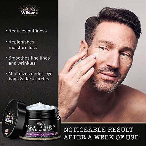 51OceVj2NBL - Moisturizing Men's Eye Cream - Eye Firming & Refreshing Men's Wrinkle Cream - Made in USA - Men's Anti-Aging Cream for Dark Under-Eye Circles, Eye Bags & Puffiness - Under Eye Cream for Men 1 oz