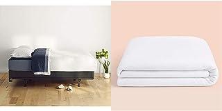 Casper Sleep Box Spring Foundation for Queen Mattress & Waterproof Mattress Protector, Queen, White
