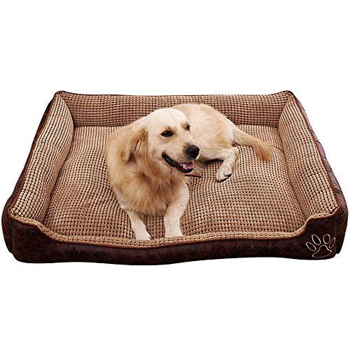 Wasbare hondenbedden, hond fleece warm Cuddler Kennel zachte puppy sofa, anti-slip bodem Cat kussen bed slaapzak orthopedische verlichting en verbetering van de slaap, wasbaar in de wasmachine
