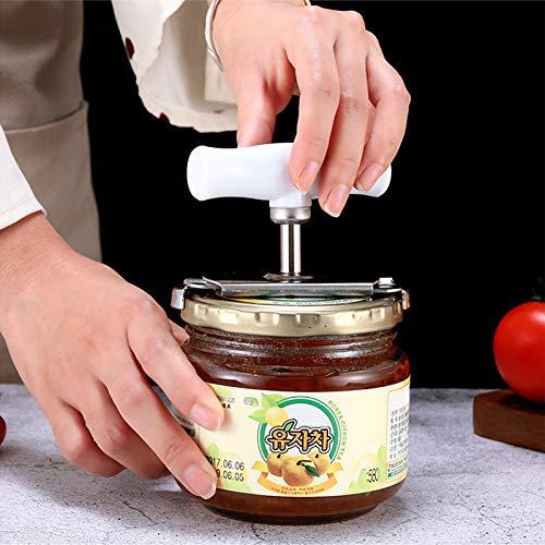 PPuujia Abrelatas ajustable manual de acero inoxidable fácil abridor de tarros de 1 a 4 pulgadas de tapa de la tapa de la herramienta de cocina Gadgets abridor de botellas