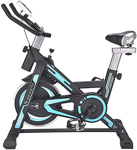 FHDFH Equipo Gimnasio en casa [2021 Promoción] Bicicleta de spinning para el hogar, Bicicleta de ejercicio Pérdida de peso Equipo de gimnasio Silent Belt Drive