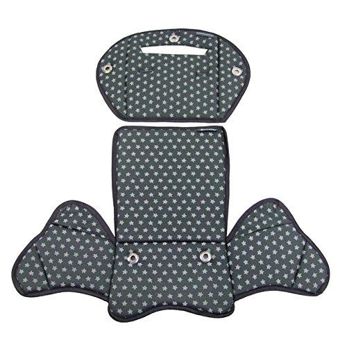 BambiniWelt24 BAMBINIWELT Ersatzbezug, Sitzkissen, Bezug für Fahrradsitz, Modell RÖMER Jockey Modell 4 Sterne (dunkelgrau Sterne) XX