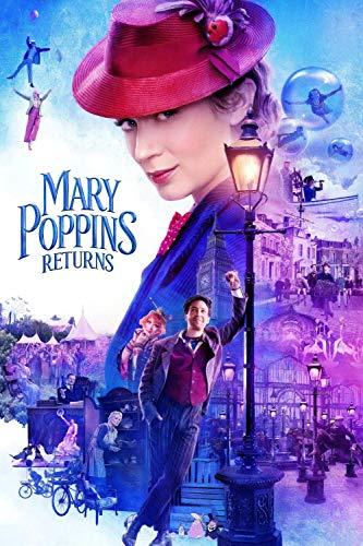 TTXD Puzzle Classici 1000 Pezzi,Il Ritorno di Mary Poppins,Giocattolo educativo decomprimente intellettuale Divertente Gioco per Famiglie per Bambini Adulti 50 x 70 cm