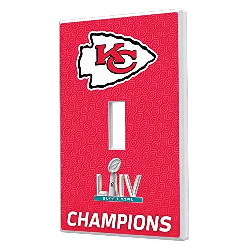 Strategic Printing Kansas City Chiefs Super Bowl LIV Champions Single Toggle Lightswitch Plate -  3817479-505