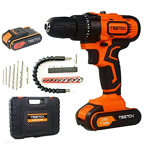 21V Cordless Drill, Cordless Combi Drill New Driver Set, Impact Power Tool with 29 Accessories Set