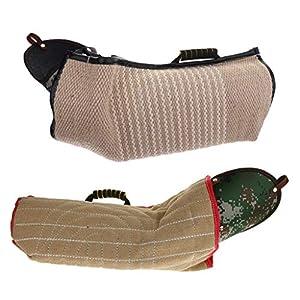 B Blesiya Equipement d'Education de Chien Manche de Protection Manchon Anti Morsure Oreiller Morsure De Chien Dressage de Chien Chiot