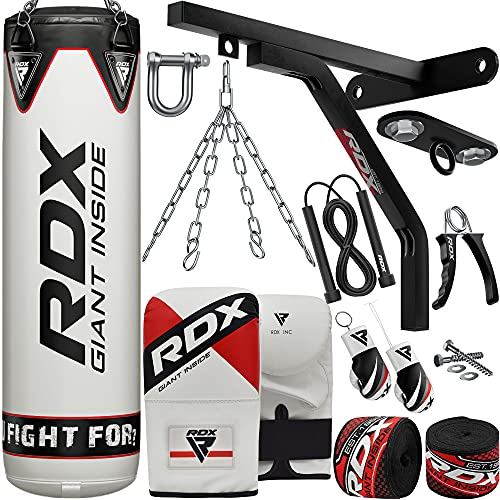 RDX Punch Bag for Boxing Training   Filled Heavy Bag Set with Punching Gloves, Chain, Wall Bracke...