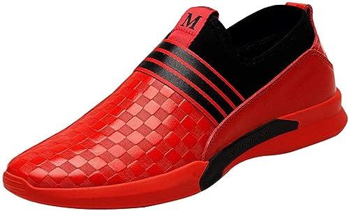 Oudan Herrenmode Sport Freizeitschuhe Board Schuhe Derby Schuhe (Farbe   Rot, Größe   41EU)