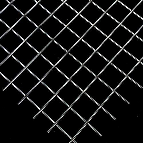 Stahl Gitter Schweißgitter 20x20mm Maschen 2mm dick Stahl blank - Zuschnitt nach Maß (500 mm x 600 mm)