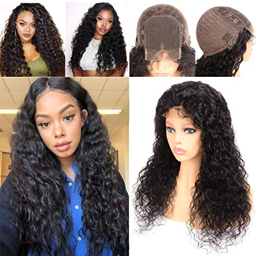 Water Wave 4x4 Lace Wig 4x4 Lace Front Closure Wig Human Hair Wigs Silk Top Quality Free Part Glueless Free Part With Baby Hair Brazilian Unprocessed Human Hair Wig For Women16 Inch Natural Color