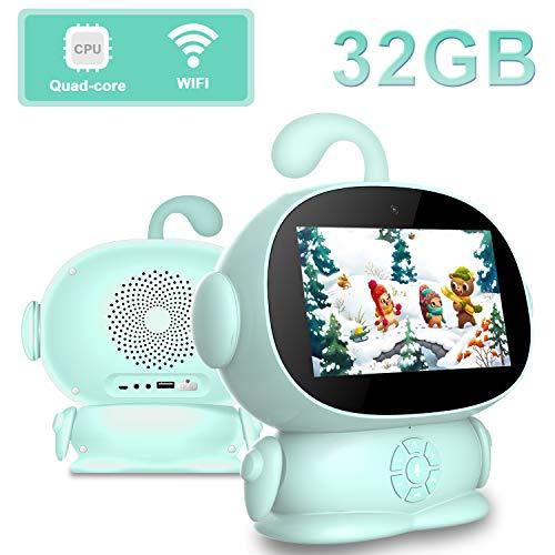 Touch Tablet 2GB RAM 32GB ROM, 5.5'' Tablet con Android 8.1 Tablet para Niños Robot PC 2MP 5400mAh Robot Educativo KTV / Bluetooth / WiFi Tablet (Verde)