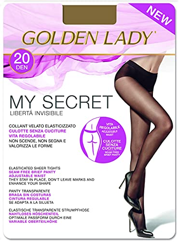 GOLDEN LADY Mysecret 20 Collant, 20 DEN, Marrone (Daino 334B),...