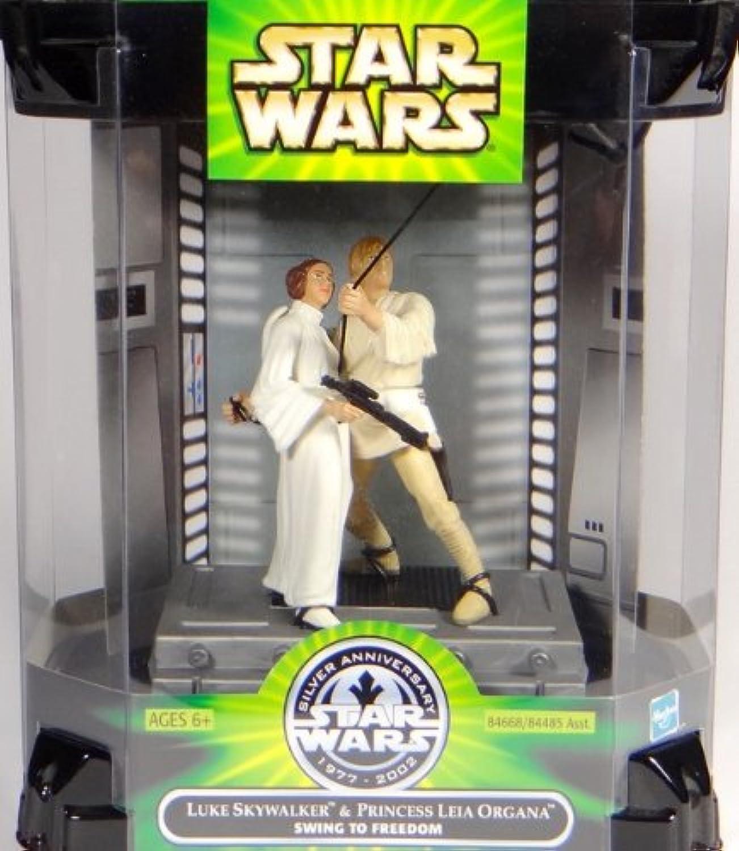 Collector set Luke Skywalker and Princess Leia Organa – Swing to freedom Hasbro Star Wars Silver Anniversary 2002