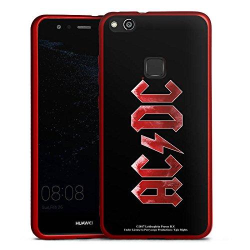 DeinDesign Huawei P10 lite Silikon Hülle Rot Case Schutzhülle ACDC Logo Offizielles Lizenzprodukt