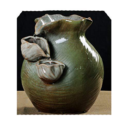 Cunmaa-d Keramik Wasser Brunnen Dekoration Wasser Ornamente Keramik Vase Blume Wasser Brunnen Luftbefeuchter