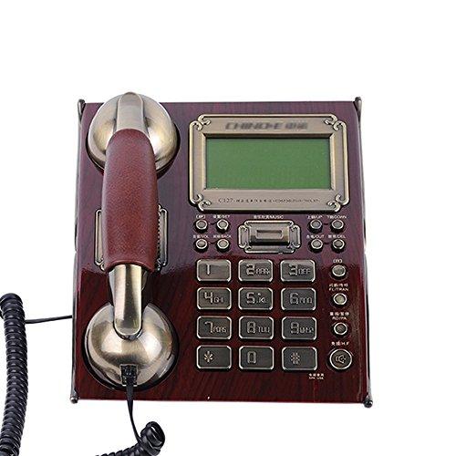 YSNUK Línea telefónica Fija del teléfono Retro línea telefónica Fija del teléfono del Alambre Teléfono rotatorio (Color : B)