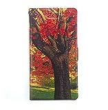 Stengh Archos 50d Oxygen Plus Hülle, Flip Phone Wallet mit Kartenschlitzen Standfunktion Magnetisch Off Phone Hülle FS