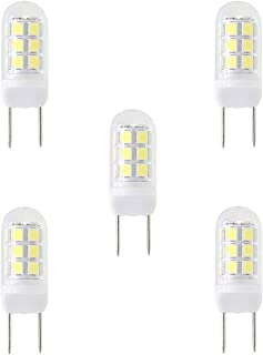 G8 LED, Dimmable 35W Halogen Replacement Bulb,G8 Bi-Pin Bulb LED, 24 X 2835 SMD LED, 3.5W AC 120V 350LM, White 6000K, for Under Counter Kitchen Lighting, Under-Cabinet Light and Puck Light (5 Packs)