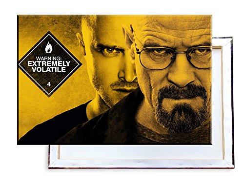 Unified Distribution Breaking Bad - Walter White & Jesse Pinkman - 100x70 cm - Bilder & Kunstdrucke fertig auf Leinwand aufgespannt und in erstklassiger Druckqualität