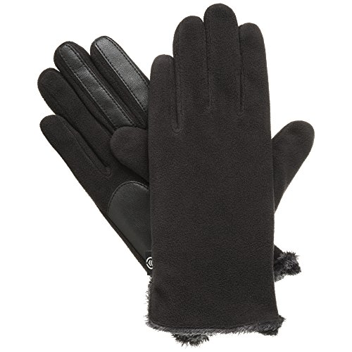 Isotoner Women's Classic Stretch Fleece Touchscreen Cold Weather Gloves with Warm