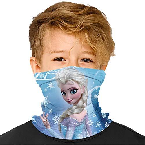 Art Fr-ozen El-sa Seamless Face Bandanas Mask Neck Gaiter Multifunction UV Protection Outdoors for Headbands Boys Girls